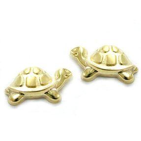 Ohrringe Ohrstecker Schildkröte, klein & fein, 9Kt Gold