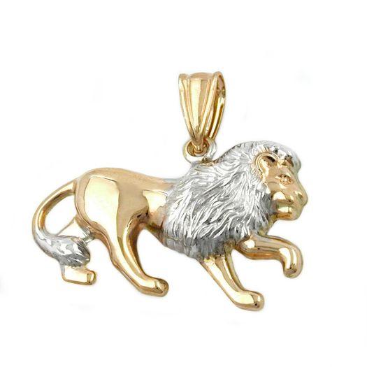 Anhänger-Löwe-matt-glänzend-9Kt-GOLD
