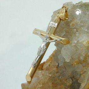 Anhänger-Jesuskreuz-bicolor-9Kt-375-Gold