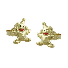 Stecker-Clown-Harlekin-9Kt-GOLD