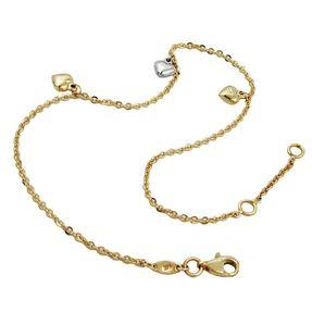 Fußkette-Anker-mit-3-Herzen-9Kt-GOLD-25cm