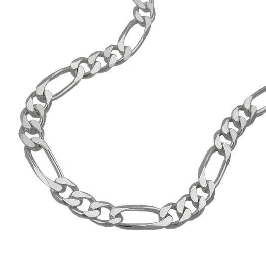 Collier-Figaro-flach-6x-diam-Silber-925-50cm