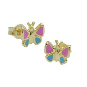 Ohrringe Ohrstecker für Kinder Schmetterling 9Kt 375 Gold