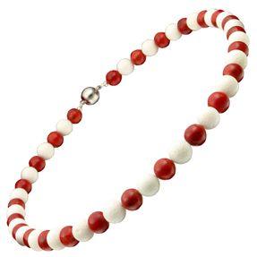 Kette-aus-weißen-und-roten-Koralle-Magnet