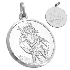 Anhänger-Medaille-Christophorus-925