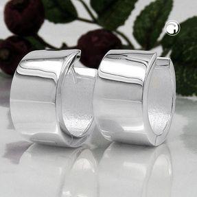 Creole-18x10mm-glänzend-Silber-925