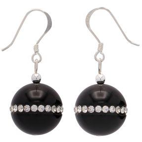 Ohrringe-aus-Onyx-und-Zirkonia-und-925-Silber