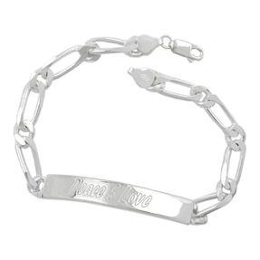 Peace-u-Love-Schildband-925-Silber-21cm