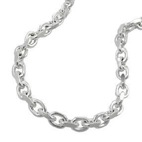 Ankerkette Collier Kette Halskette, diamantiert echtes 925 Silber 50cm