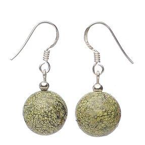 Ohrhänger-aus-Serpentin-und-925-Silber
