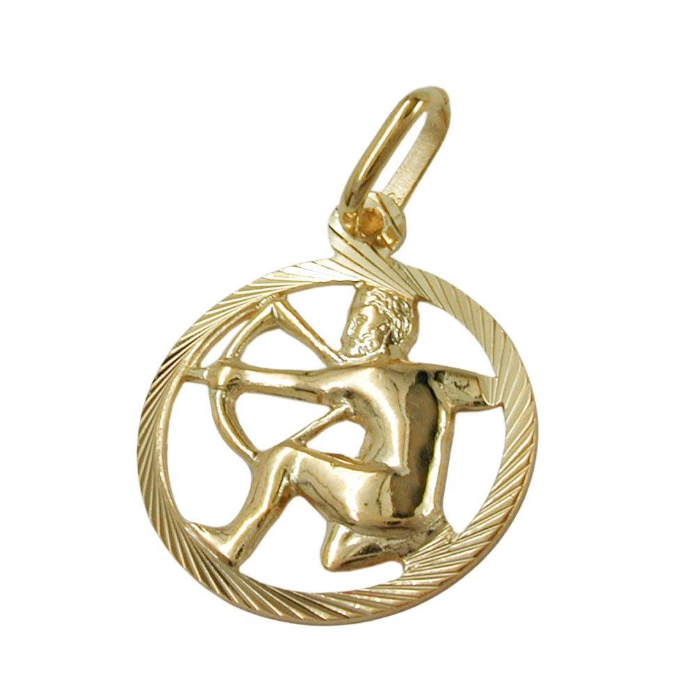pendant necklace zodiac signs sagittarius from 375 gold