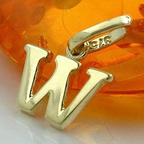 Anhänger-Buchstabe-W-aus-375-Gelbgold