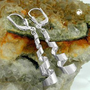 Ohrhänger-Spiralen-925-Silber-glänzend
