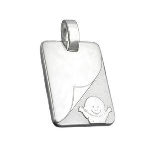 Baby-Anhänger-aus-925-Silber-matt-glänzend