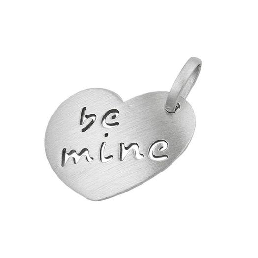 Anhänger-Herz-be-mine-aus-925-Silber-matt