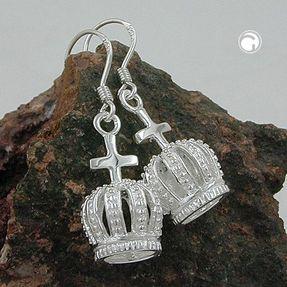 Krone-mit-Kreuz-Ohrhänger-aus-925-Silber