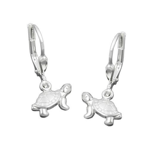 Brisur-Schildkröte-925-Silber-massiv-matt-glänzend