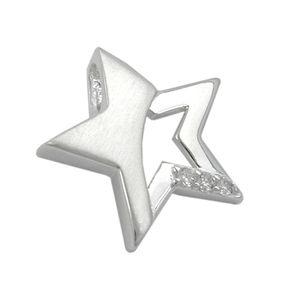 Stern-mit-Zirkonia-Anhänger-925-Silber