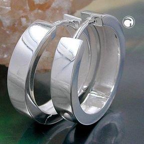 Creolen-aus-echtem-925-Silber-glänzend-für-Damen