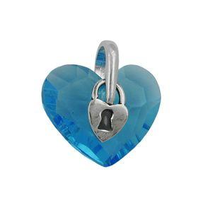 Anhänger-Herz-mit-Schloß-hell-blau-925-Silber