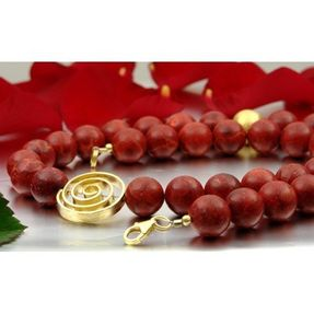 Damen-Kette-aus-Koralle-und-925-Silber-vergoldet