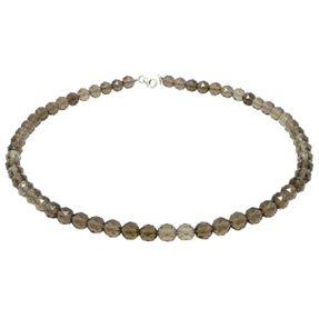 Kette Collier aus Rauchquarz braun facettiert Edelsteinkette Halskette Damen Bild 1