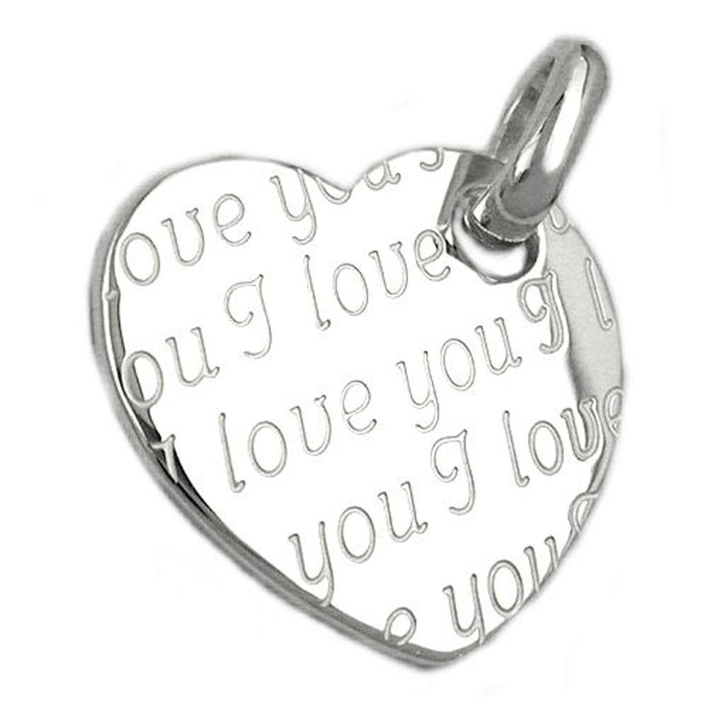 Anhänger Herz - I love you, graviert, 925 Echt Silber, glänzend, Damen 0a25ba0435
