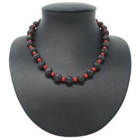 Halsschmuck-Lava-Koralle-schwarz-rot
