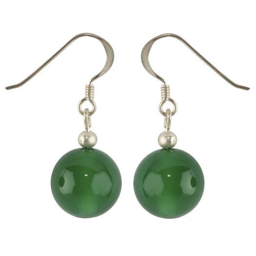 Ohrhänger-aus-grünem-Achat-und-925-Silber