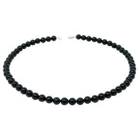 Kette-aus-Onyx-und-925-Silber-schwarz-klassisch