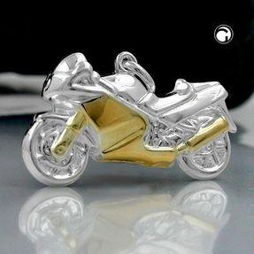Anhänger-Motorrad-Bike-aus-925-Silber-bicolor