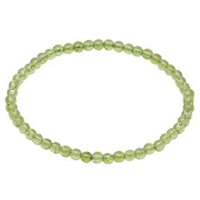 Armband Armschmuck aus echtem Edelstein Peridot grün Ø 4mm endlos dehnbar 19cm