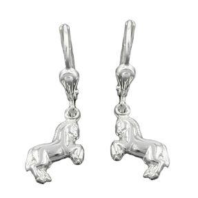 Ohrhänger-Brisur-Pferde-925-Silber