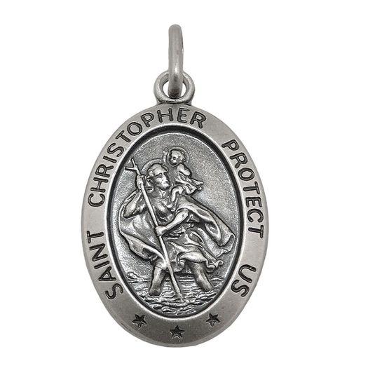 Anhänger-Christophorus-antik-Silber-925