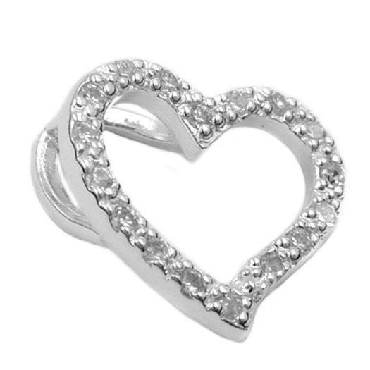 Anhänger-Zirkonia-Herz-Silber-925