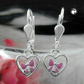 Ohrringe-Herz-mit-Schmetterling-925-Silber