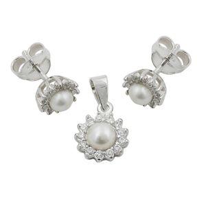 Ohrstecker-und-Anhänger-mit-Perlen-925-Silber