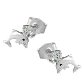 Ohrstecker-Delfin-mit-Zirkonia-925-Silber
