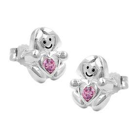 Stecker-Mädchen-Herz-pink-Silber-925