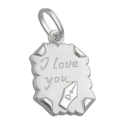 I-Love-You-Anhänger-Brief-mit-Gravur-925-Silber
