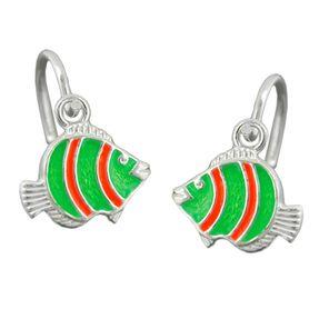Brisur-Fisch-grün-orange-925-Silber