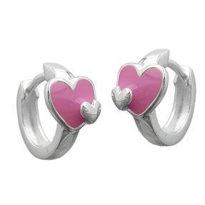 Creolen-mit-Herz-pink-925-Silber-für-Kinder