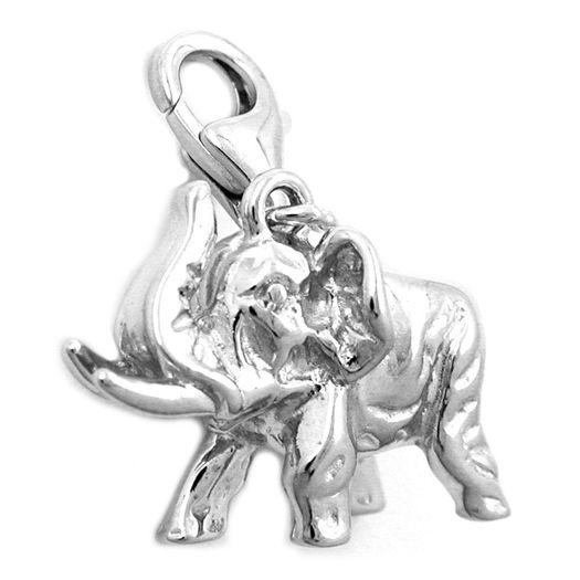 Anhänger-Charm-Elefant-geformt-925-Silber