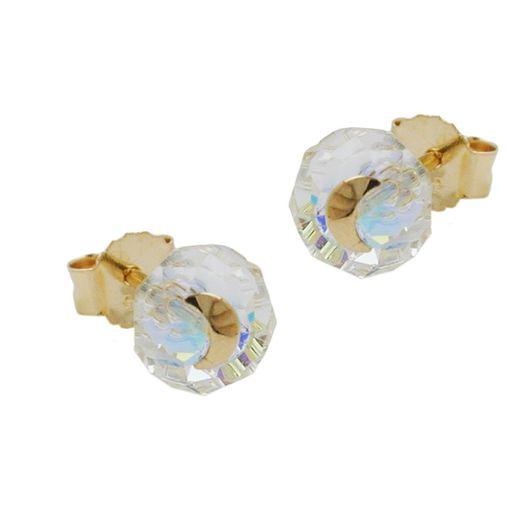 Ohrstecker-Glas-Kristall-Mond-585-Gold