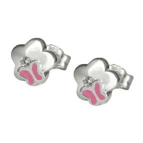 Ohrstecker-Blume-Schmetterling-pink-925-Silber