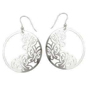 Ohrhaken Ohrringe Ohrhänger, 3 Schmetterlinge, 925 Silber für Damen