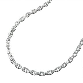 1mm Kette Collier Halskette Ankerkette, echtes 925 Silber, Damen, 42cm