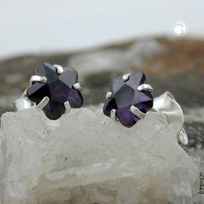 Ohrstecker-Blume-Zirkonia-amethyst-925-Silber