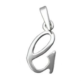 Anhänger, Buchstabe G aus 925 Silber Sterlingsilber, für Damen