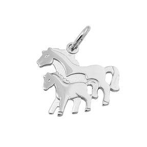 Anhänger-Pferdepaar-925-Silber